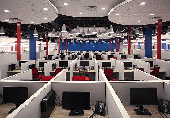 Tenant improvements for 6 GDIT call centers around the US