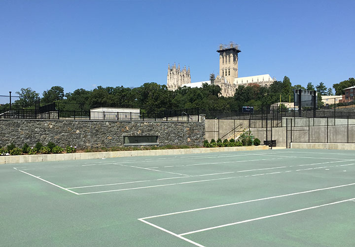 Athletic fields project management at St. Alban's School in Washington, DC